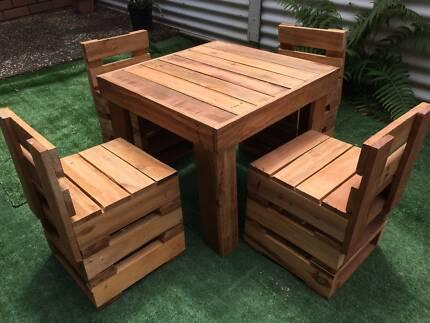 Children's Table and Chairs Setting Wooden Garden Indoor Outdoor