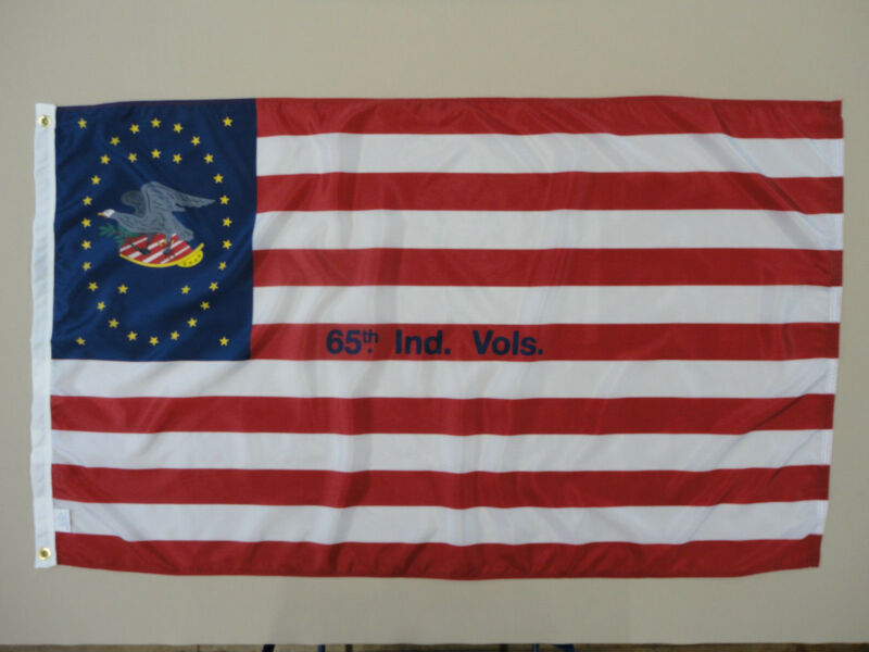 65th Indiana Infantry Regiment Historical Indoor Outdoor Dyed Nylon Flag 3