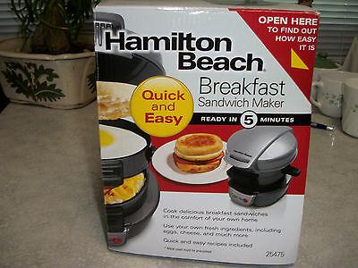 Hamilton Beach Breakfast Sandwich Maker 25475 NEW