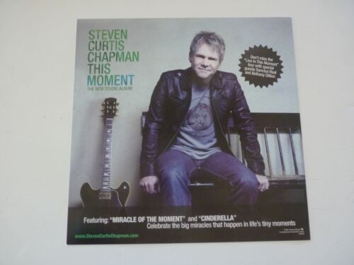 Steven Curtis Chapman This Moment Promo LP Record Photo Flat 12x12 Poster
