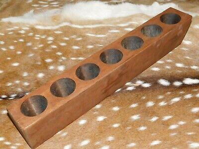 2 Hole Wooden Sugar Mold Wood Candle Holder Primitive
