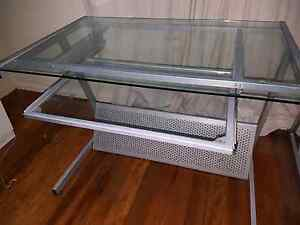 Free Free Free glass computer tables Goodna Ipswich City Preview
