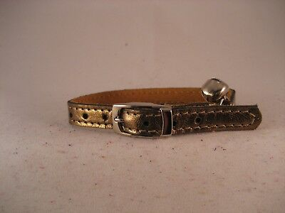 LEATHER BRONZE CAT COLLAR