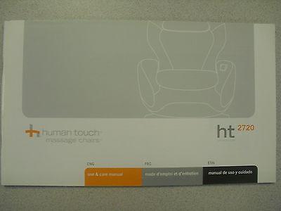 Human Touch HT-2720 Massage Chair Recliner Instruction Manua