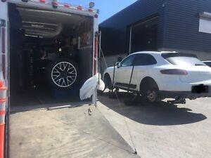 Les pneus à domicile