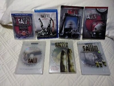 Saw 1-6 DVD's and Movies GRINDCORE blu ray Death Kill Horror Movie Halloween - Halloween 6 Deaths