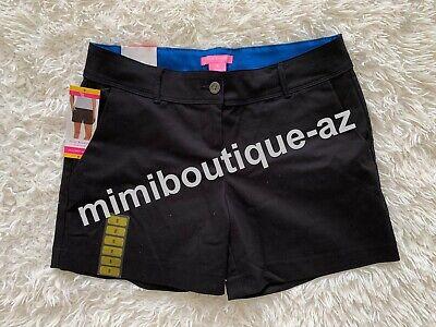 Isaac Mizrahi New York Women's Tailored Short Black Pants Stretch Bottom $50 NEW
