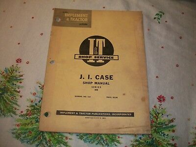 J I Case 400 Series Diesel Tractor Shop Service Manual Book C-6