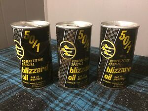 3 sealed cans of ski-doo blizzard oil !!