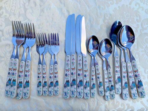 INTERNATIONAL  CHINA HEARTLAND 20 piece cutlery, utensils, flatware, countryRARE