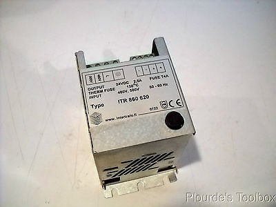 Used Intertrafo Power Supply Type Itr 860 620 24 Vdc 2 5 Amp 500v Fuse T4a