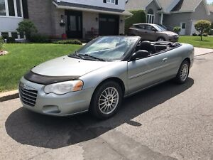 Superbe décapotable Chrysler Sebring 2005