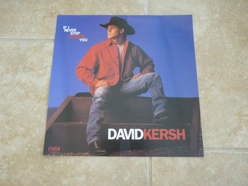 David Kersh If I Never Stop Loving You LP Flat Poster