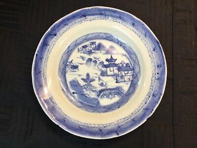 ESTATE Antique 19th c. Chinese Export Canton Blue & White Porcelain #1