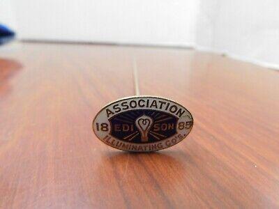 J2 Vintage Brass 1885 Edison Association Illuminating Co's HAT PIN Advertising