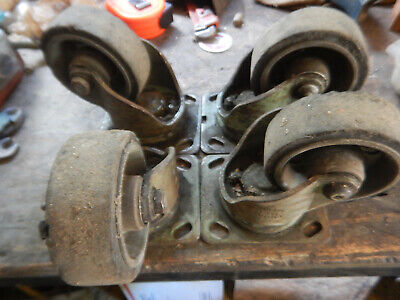 4 Vintage Industrial Swivel Noelting 900-4 Casters