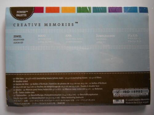 Creative Memories Power Palette JEWEL Milestone Album Kit Journal Boxes photo
