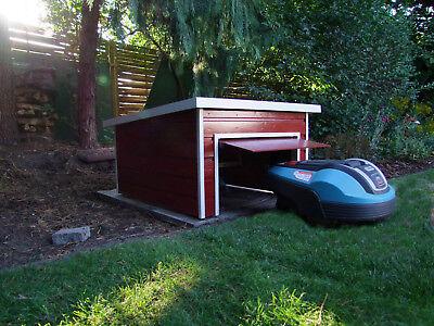 Bauplan - Garage für Mähroboter (Flachdachvariante) mit automatischer Klappe