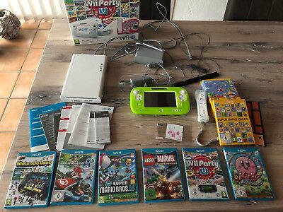 Nintendo Wii U 8GB Weiß Spielekonsole mit vielen Spielen - sehr guter Zustand gebraucht kaufen  Elsdorf