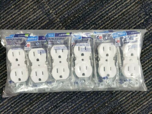 12 Pack --Standard WHITE Outlet Receptacle 125 Volt 15 Amp Duplex Residential