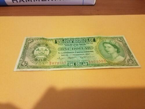 British Honduras 1961 rare date