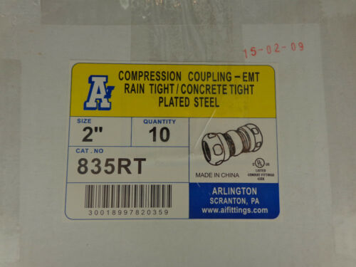 "Arlington Industries 835RT 2"" Compression Coupling QTY 10 Per Box FP"
