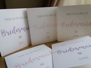 Bridesmaid Thank You Cards Ebay