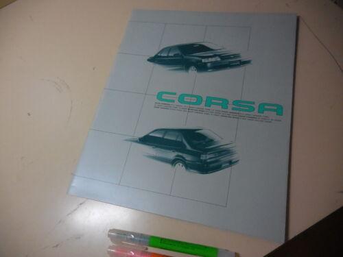 TOYOTA CORSA Japanese Brochure 1992/08 EL43/45/41 NL40 5E-FHE 5E-FE 4E-FE 1N-T