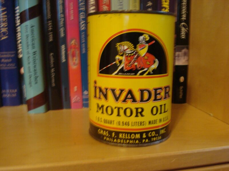 INVADER MOTOR OIL 1QUART UNOPENED CAN EXCELLENT CONDITION