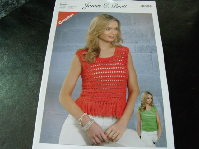 James C Brett Chunky Crochet Pattern JB359 Tops