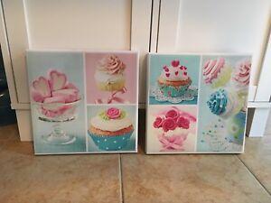 Cadre Décoration Cupcake Canvas **Beau Cadeau À Offrir **