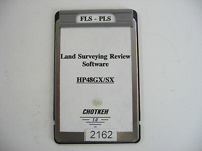 Chotkeh Used Fls-pls Land Surveying Review Software For The Hp48gxsx