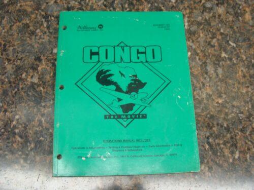 Congo Pinball Machine Service Manual, Atlanta (712)