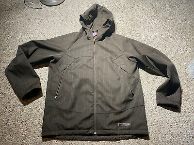 Burton Shell Insulated Ski Snowboard Jacket DryRide PIN STRIPED BROWN Men's XL