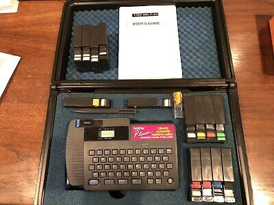 Brother P-touch Model Pt-15 Label Maker Tested Working Extras
