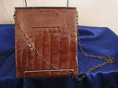 1930s Handbags and Purses Fashion Art Deco era 1930s Whitmores crocodile skin handbag with mirror, purse, UK made $68.19 AT vintagedancer.com
