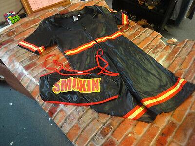 Smokin Hot Firefighter Costume (Dreamgirl hot firefighter costume halloween party M Black dress & SMOKIN)