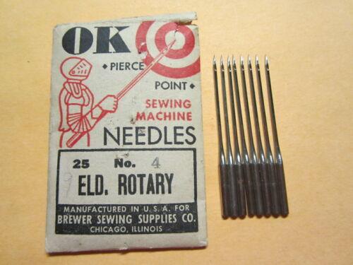 8 National, Eldredge 20x1 Rotary Sewing Machine Needles, Size 14, Damascus Grand