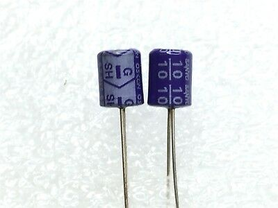 10sh10m Sanyo Capacitor 10uf 10v Thru Hole 4 Pieces