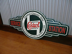 Castrol Wakefield Motor Oil metal tin sign bar garage petrol car gas