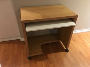Free bookcases, end table and desk.