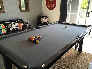 """Pool Table - 7 x 3'6"""" Black Powder Coated Steel Frame Rochedale Brisbane South East Preview"""