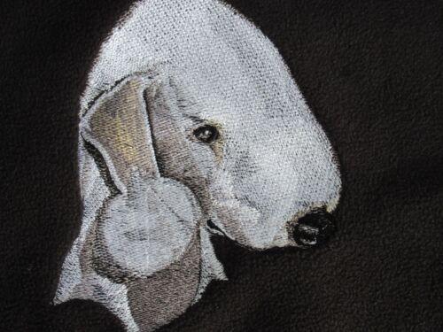 Embroidered Long-Sleeved T-shirt - Bedlington Terrier BT3982  Sizes S - XXL