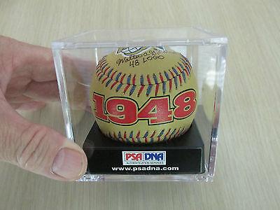 """CHIEF WAHOO"" WALTER GOLDBACH PSA/DNA Signed 1948 Spinneybeck Baseball + UD Card"