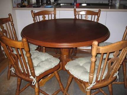 7 Piece Dining Table and Chairs c/w Cushions Berwick Casey Area Preview