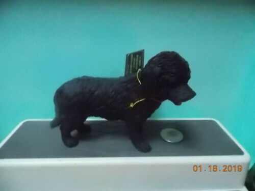 Black Cockapoo Dog Figure