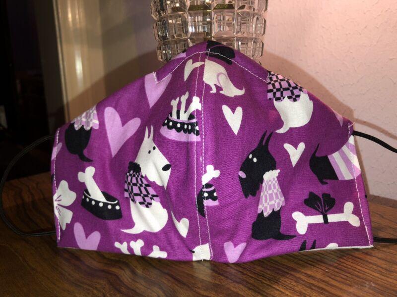 Purple Scottie Love Mask