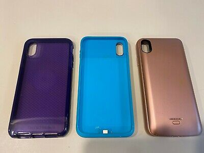 LOT of 3 iphone xs max charging battery rechargeable cases Lonlif Juboty Tech21