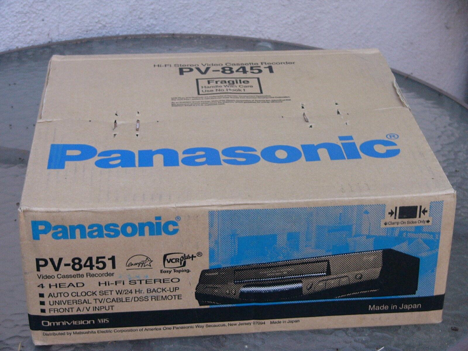 NEW Panasonic PV-8451 VHS VCR Player 4-Head Hi-Fi Stereo vid