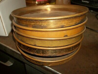 Lot Of 5 Unbranded 8 Brass Sieve Pans Half Height 636